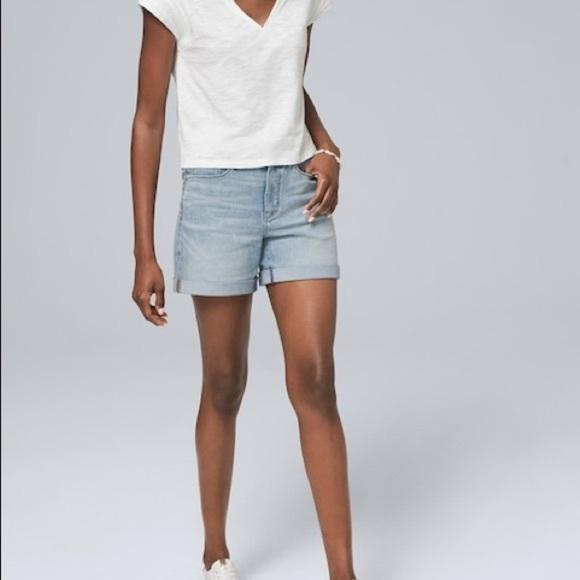 White House Black Market Pants - Whbm Denim High Rise Shorts Size 0